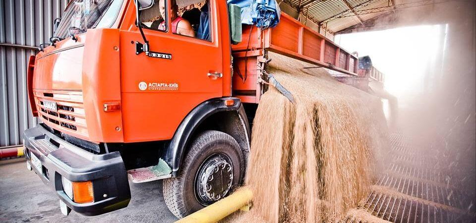 С начала сезона экспорт зерна уступает прошлогоднему объему на треть