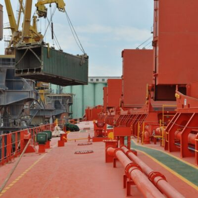 В первом полугодии морпорты увеличили контейнерооборот на 12,5%