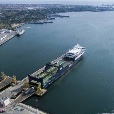 В порту «Черноморск» началась подготовка паромного комплекса к концессии