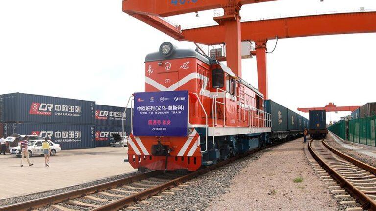 контейнерный поезд из Китая в Европу