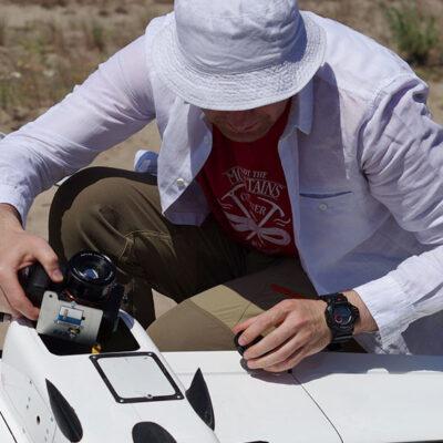 «Госгидрография» с помощью беспилотника обследовала береговую линию Киевского водохранилища