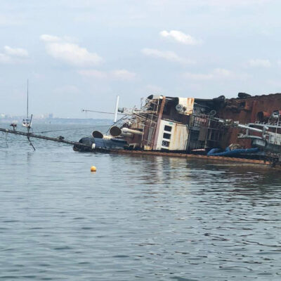 Госэкоинспекция обновила оценку ущерба от аварии танкера Delfi