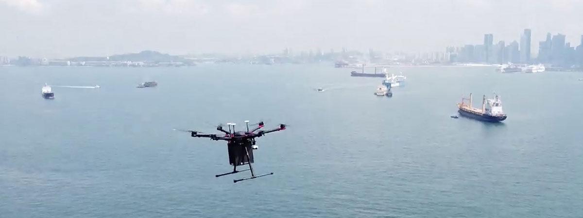 Wilhelmsen будет дронами доставлять на суда запчасти, распечатанные на 3D принтере