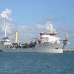 Земснаряд Jan De Nul проработал более 2 тыс. часов на биотопливе