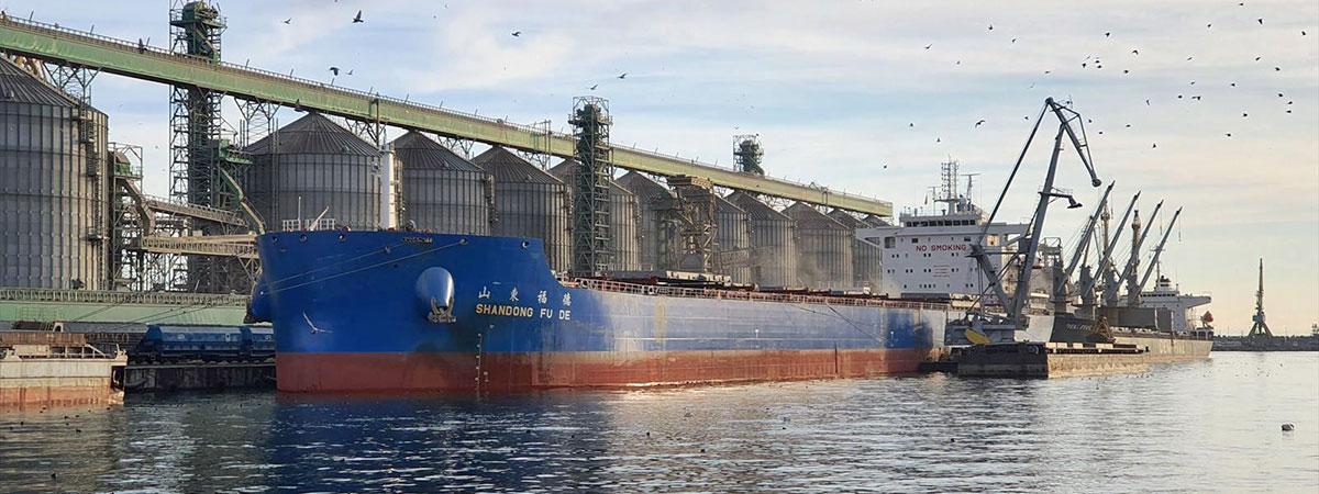 Капитан порта «Черноморск» задержал отход балкера с перегрузом до улучшения погодной обстановки