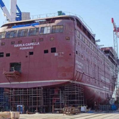 Турецкая верфь готовит к спуску на воду первое круизное судно на электротяге для норвежской компании