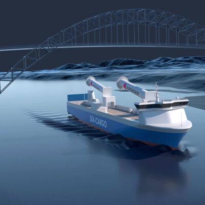 Norsepower установит складные роторные паруса на Ro-Ro судно