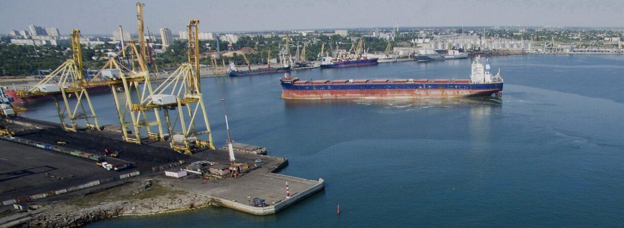 В январе-августе порт «Черноморск» сократил грузооборот на 7,2%