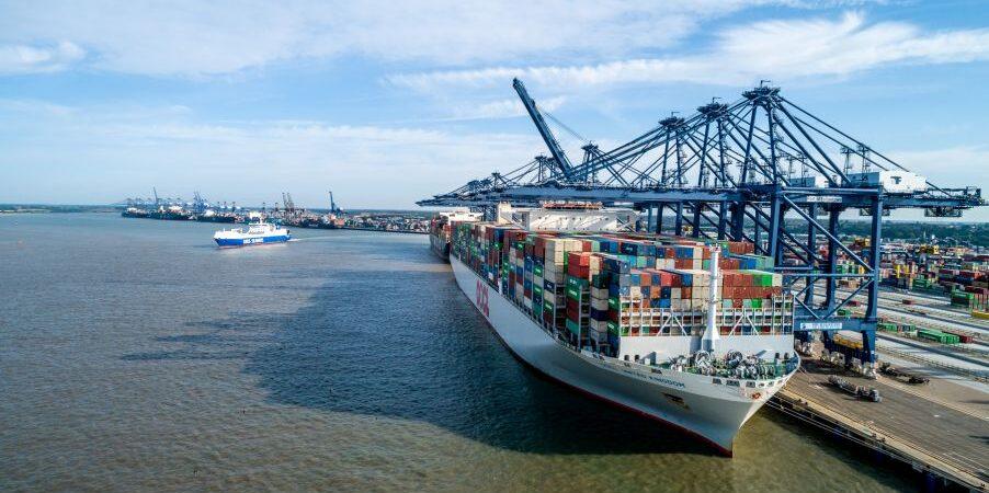 Во втором квартале порты Великобритании потеряли 18% грузооборота