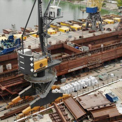 Верфь «Нибулона» начала сборку шестой баржи проекта NBL-91