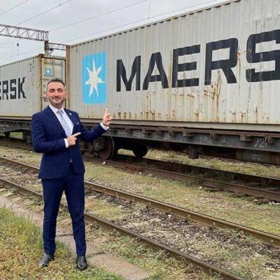 Maersk запустил контейнерный поезд из Китая в Грузию