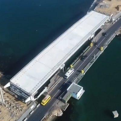 На строительстве моста через Сухой лиман идет установка железобетонных свай
