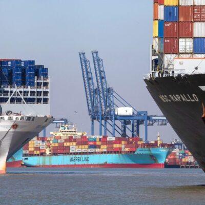 Контейнерные порты начали вводить ограничения, чтобы справиться с заторами