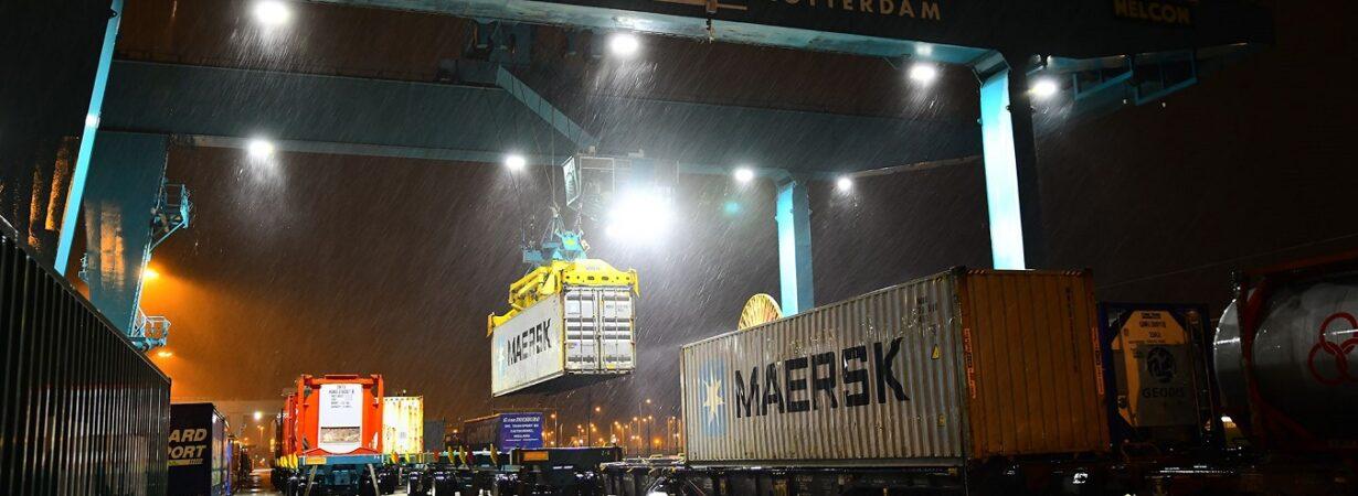 Maersk отправила первый прямой поезд из порта Роттердам в Китай