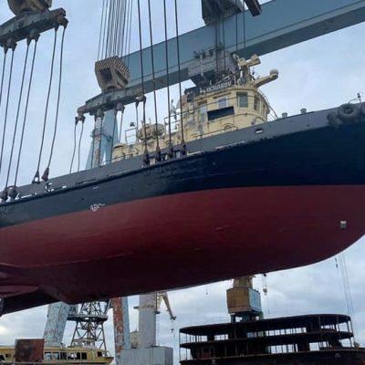 Буксир Днепро-Бугского порта прошел доковый ремонт в Николаеве