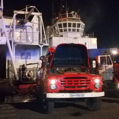 В Одесском порту горела плавмастерская ПСМ-650