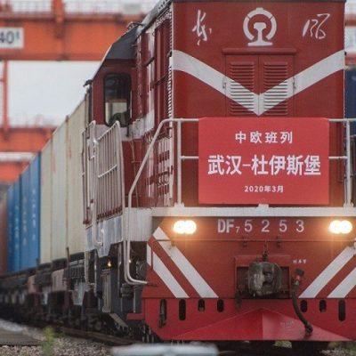 Количество грузовых поездов между Китаем и Европой достигло рекорда