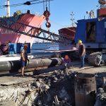 В порту «Черноморск» провели реконструкцию подкрановых путей причала №11