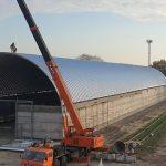 «Агро-Рени» построил склад напольного хранения зерна