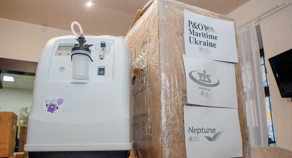 ТИС, Neptune и P&O Maritime Ukraine передали БФ «Корпорация монстров» 50 кислородных концентраторов