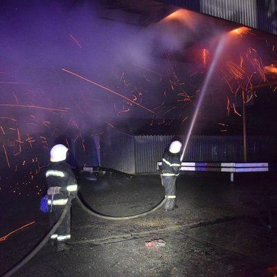 На «Нибулоне» горела транспортная галерея