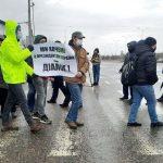 Протестующие моряки частично перекрыли трассу Киев—Одесса