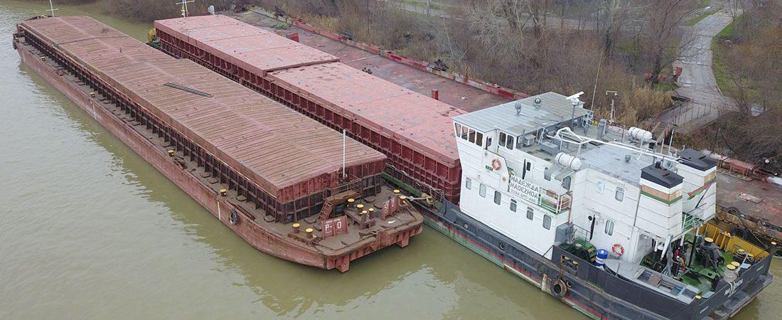 «Дунайсудосервис» отремонтировал самоходную баржу Белорусского пароходства