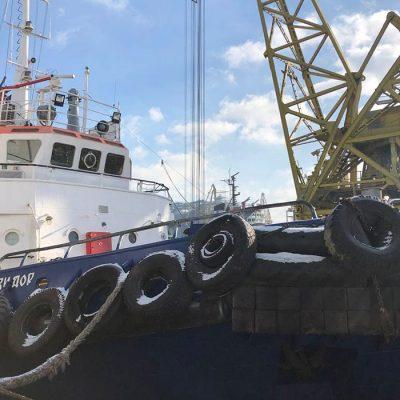 ГП «ОМТП» проводит испытания буксира «Стивидор» после ремонта