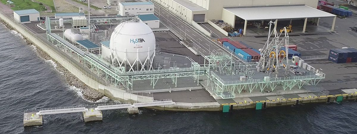 В Японии построили первый в мире морской терминал по приему сжиженного водорода
