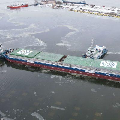 Верфь «Нибулона» спустила на воду шестую баржу проекта NBL-91