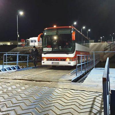 Переправа Орловка—Исакча обслужила первый автобусный рейс