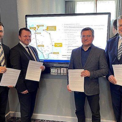 «Укрзализныця», «Укрферри» и LTG Сargo договорились развивать мультимодальный маршрут Турция—Украина—Литва—Польша