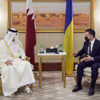 Зеленский рассчитывает на инвестиции Катара в инфраструктуру и технологии