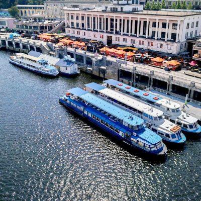Киевский речной вокзал объявил старт сезона пассажирских перевозок
