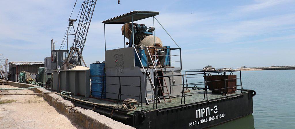 Мариупольский порт отремонтировал мобильную секцию плавпричала