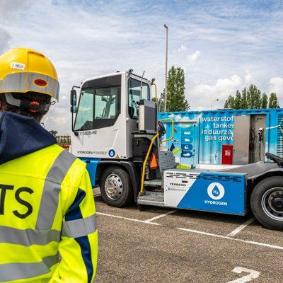 В порту Антверпен тестируют терминальный тягач на водороде