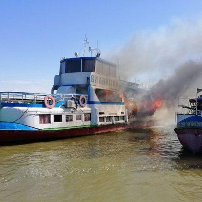 В порту Белгород-Днестровский горел прогулочный катер