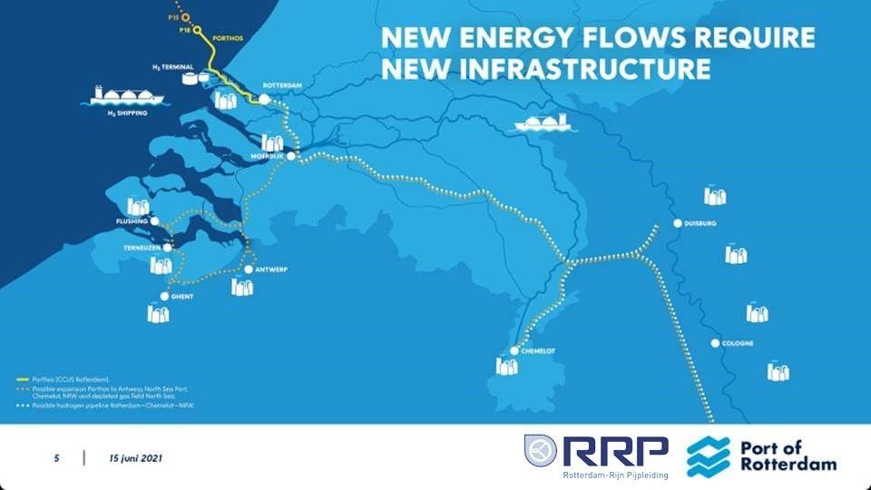 В порту Роттердам построят четыре новых трубопровода для транспортировки водорода