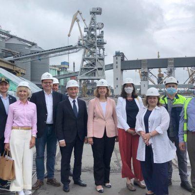 Поверенная в делах США в Украине Кристина Квин ознакомилась с инвестпроектами в Одесском порту