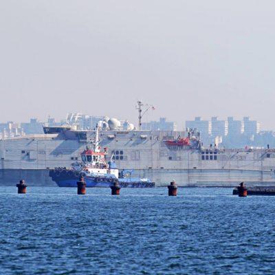 Буксир P&O Maritime Ukraine сопроводил десантный корабль ВМС США в Одесском порту