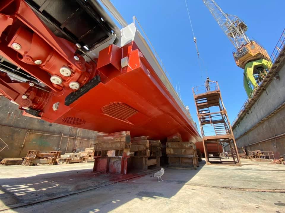 ГП «ОМТП» отремонтировало понтон порта «Пивденный» и катер ВМС