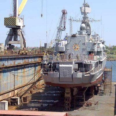 Верфь «Нибулона» приняла в ремонт фрегат «Гетьман Сагайдачный»