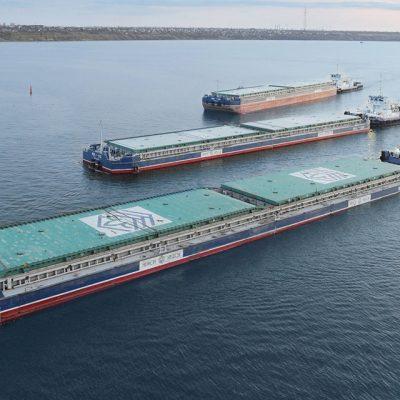 «Нибулон» обновил годовой рекорд грузоперевозок по реке: 4,3 млн тонн