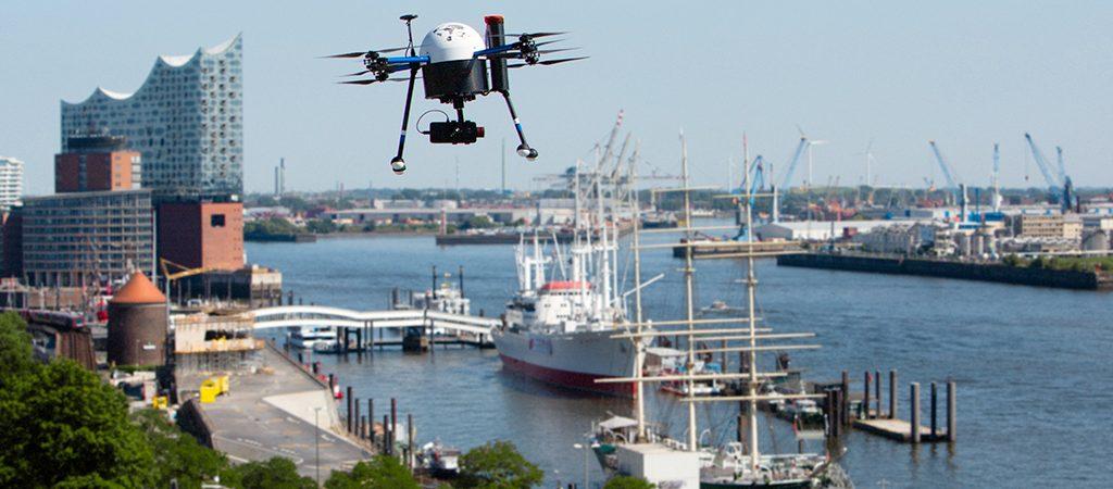 Порт Гамбург станет полигоном для испытания дронов