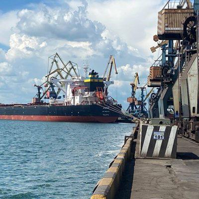 Судозаходы: пятерка крупнейших судов порта «Пивденный» в июне
