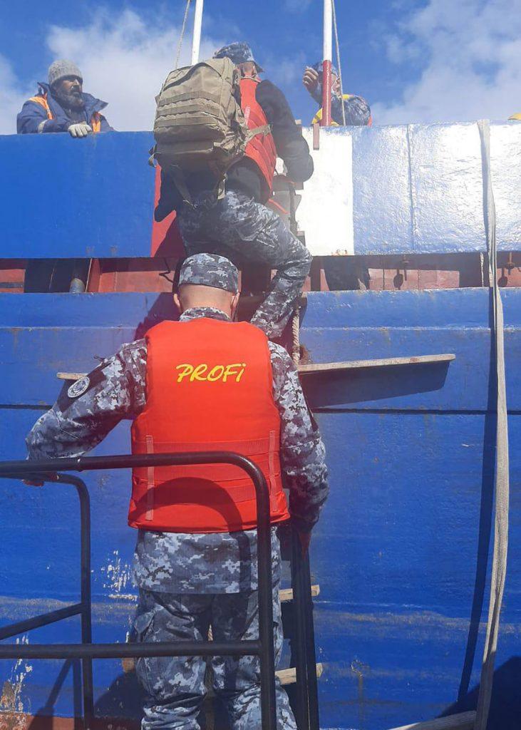 Пограничники задержали сухогруз за нарушение границы на Дунае