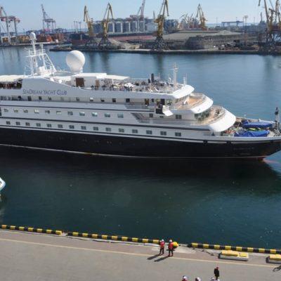 Одесский порт принял первый круизный лайнер с начала пандемии COVID-19
