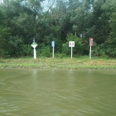 «Госгидрография» очистила береговые навигационные знаки на Дунае