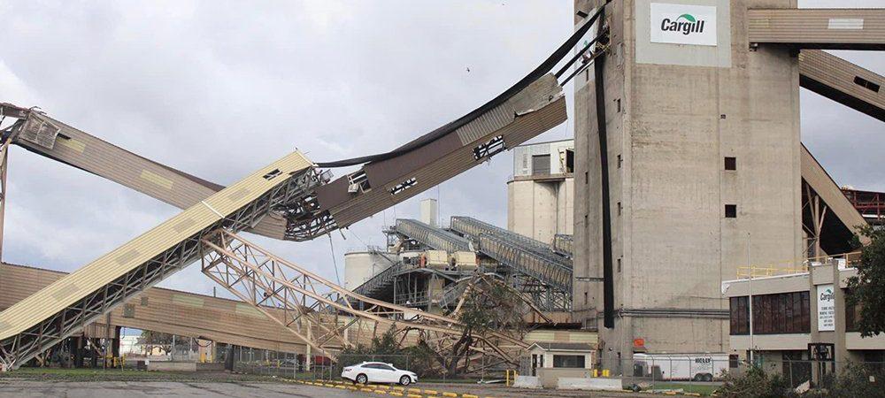 Ураган в США повредил терминалы мировых зернотрейдеров и нарушил экспортные поставки